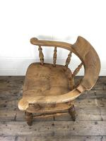 19th Century Beech and Elm Smoker's Bow Chair (12 of 12)
