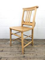Set of Four Vintage Beech Chapel Chairs (12 of 16)