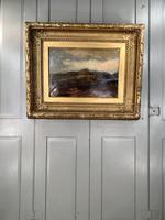 Antique Large Impressionist Landscape Oil Painting in Opulent Frame (10 of 10)