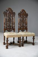 Pair William & Mary Style Chairs (11 of 12)