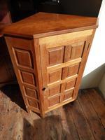 """Beaverman"" Oak Corner Cabinet (3 of 7)"