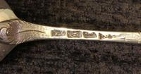Antique Pair of Silver Berry Spoons (8 of 10)