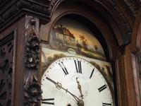Flemish Carved Oak Grandfather Clock (4 of 13)