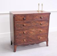 19th Century Flame Mahogany Chest of Drawers (3 of 10)