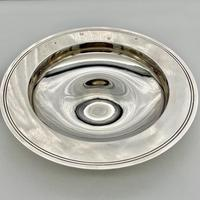 20th Century Modern Large Sterling Silver Armada Dish London 1994 Mappin & Webb (4 of 7)