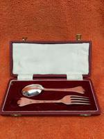 Vintage Sterling Silver Hallmarked Cased Spoon Fork 1970 Sheffield Travis, Wilson & Co Ltd (2 of 8)
