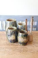 Scottish Pottery Slipware Barrel Storage Jars x4 (28 of 35)