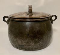 Large Antique Copper Cauldron with Lid (15 of 16)