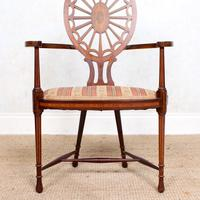 Antique Edwardian Armchair Inlaid Mahogany (2 of 10)