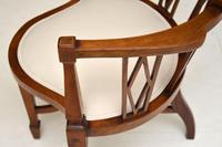 Antique Edwardian  Inlaid Mahogany Corner Chair (6 of 11)