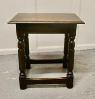 19th Century Oak Joint Stool (5 of 5)