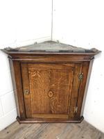 Antique Georgian Oak Hanging Corner Cupboard (5 of 12)