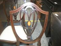 Pair of Shield Back Inlaid Mahogany Chairs (2 of 4)
