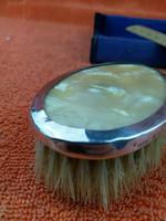 Sterling Silver Hallmarked Small Cased Clothes Brush with Faux Mother of Pearl 1927, Birmingham, G & C Ltd (8 of 12)