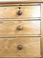 Victorian Antique Pine Chest of Drawers (8 of 10)