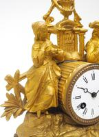 Stunning Quality French Mantel Clock Lady & Lord Figural Mantle Clock. (9 of 9)