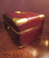 Antique Paris Made Leather & Gilt Bound Jewellery Case (7 of 9)