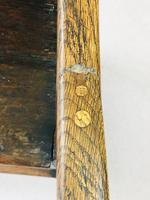 Rare English Charles II Oak Wainscot Armchair Likely to be from Battle Abbey c.1660-1685 (14 of 20)