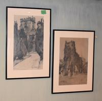 Superb Pair of Drawings by Charles Walter Simpson (4 of 8)