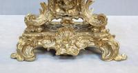 French Bronze Gilt Rococo Style Mantel Clock by Vincenti (4 of 8)