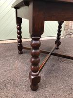 Antique Oak Extending Dining Table (5 of 10)
