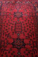 Vintage North West Persian Wool Runner with an all over design upon a red and dark blue ground within multiple borders (6 of 8)