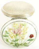Antique Hallmarked Silver And Guilloche Enamel Vanity Mirror (3 of 8)
