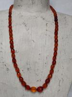 Antique Graduated Faceted Amber Beads Necklace 26 gr for Spare or re Stringing (4 of 11)