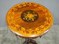Marquetry Inlaid Walnut Wine Table (3 of 10)