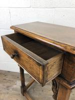 Vintage Oak Side Table with Drawer (6 of 11)