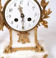Antique Clock Set French Garniture Gilt & Marble Cherubs (7 of 14)