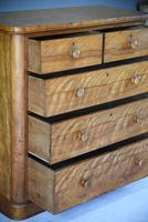 Victorian Satin Birch Chest of Drawers (7 of 12)