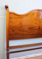 Antique Figured Walnut Double Bed. (5 of 17)