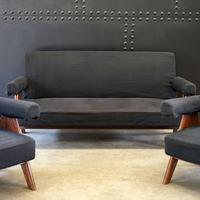 Upholstered Chandigarh Easy Armchair & Sofa by Pierre Jeanneret (2 of 8)