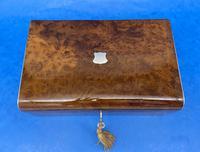 Victorian Nickel / Silver Bound Burr Cedar Box (5 of 11)
