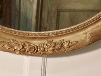 Large French Rococo Oval Gilt Wall Mirror (6 of 9)