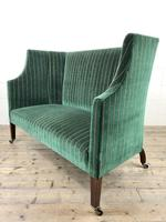 Edwardian Upholstered Wing Back Couch (5 of 9)