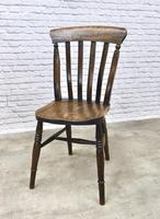 Matched Set of 6 Windsor Lathback Kitchen Chairs (7 of 7)