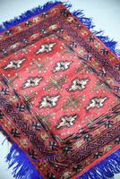 Afghan Red Saddle Bag Cushion Cover (3 of 9)