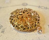 Vintage Pocket Watch Chain Vinaigrette Fob 1950s Victorian Revival Rose Gilt Fob (10 of 11)
