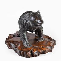 Large Meiji Period Bronze Bear by Genryusai Seiya (5 of 7)
