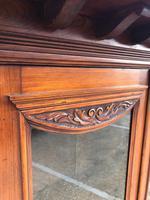 Antique Arts & Crafts Carved Walnut Bookcase (8 of 13)