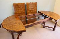 Antique Burr Walnut Extending Dining Table Eight Seater (11 of 14)