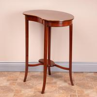 Edwardian Inlaid Mahogany Kidney Shape Occasional Table (12 of 15)