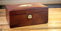 Victorian Red Leather Jewellery Box 1890 (5 of 10)