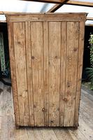 Gorgeous! Large Old Victorian Pine & Black Painted Hall Cupboard / Wardrobe - We Deliver! (2 of 10)