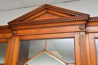 Antique Burr Walnut Breakfront Bookcase / Display Cabinet (6 of 10)