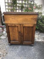Antique Oak Clerk's Desk with Cupboard (3 of 11)