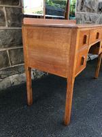 Antique Heals Oak Dressing Table & Stool (3 of 12)