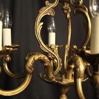 French Gilded Bronze 6 Light Chandelier (9 of 10)